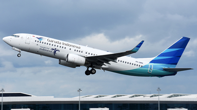 A picture of PKGMN - Boeing 7378U3 - Garuda Indonesia - © Adhe Bhisma Chendikia