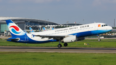 A picture of B9977 - Airbus A320232 - Chongqing Airlines - © Lywings