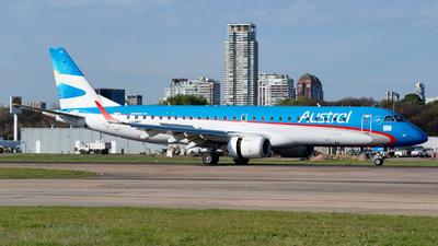 A picture of LVFPT - Embraer E190AR - Aerolineas Argentinas - © Dana Low