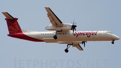 A picture of VTSUA - De Havilland Canada Dash 8400 - SpiceJet - © Barad karthik Kumar