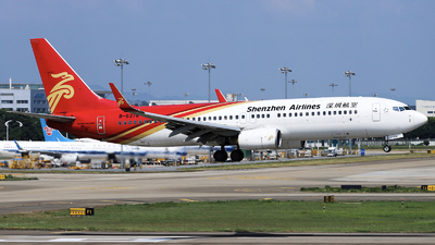 A picture of B5378 - Boeing 7378AL - Shenzhen Airlines - © nibrage