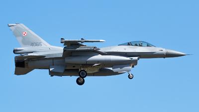 4065 - Lockheed Martin F-16C Fighting Falcon - Poland - Air Force