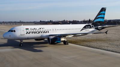 5A-ONA - Airbus A320-214 - Afriqiyah Airways