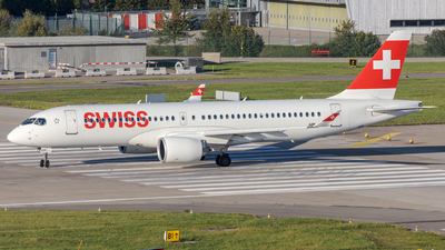 A picture of HBJCP - Airbus A220300 - Swiss - © SlowhanD