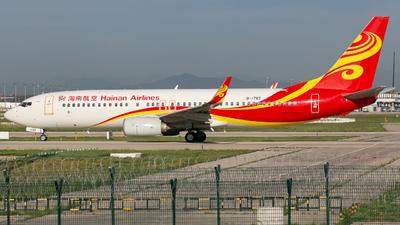 A picture of B1787 - Boeing 73784P - Hainan Airlines - © Ren LanMing