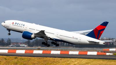 A picture of N702DN - Boeing 777232(LR) - [29741] - © Clayton Ferguson