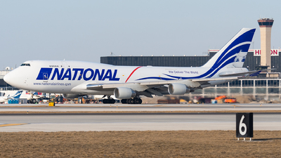 N729CA - Boeing 747-412(BCF) - National Airlines