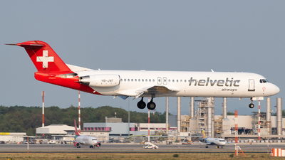 HB-JVF - Fokker 100 - Helvetic Airways