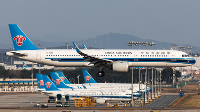 A picture of B8380 - Airbus A321271N - China Southern Airlines - © Jack  Li