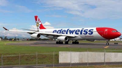 A picture of HBJMD - Airbus A340313 - Edelweiss Air - © Kenneth Mora Flores KMF777