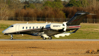 A picture of N592FX - Bombardier Challenger 350 - Flexjet - © Carlos Barcelo