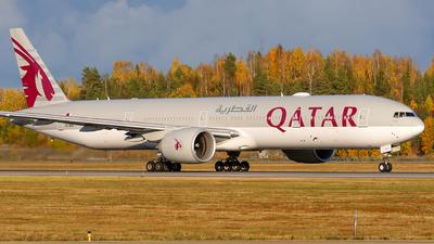 A picture of A7BEA - Boeing 7773DZ(ER) - Qatar Airways - © Laszlo Fekete