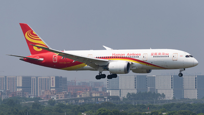 A picture of B2728 - Boeing 7878 Dreamliner - Hainan Airlines - © Chen Yiqun