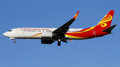 A picture of B5661 - Boeing 73784P - Hainan Airlines - © wangpaul