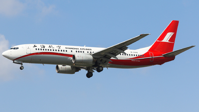 A picture of B5142 - Boeing 7378Q8 - Shanghai Airlines - © Aircraft carrier FX