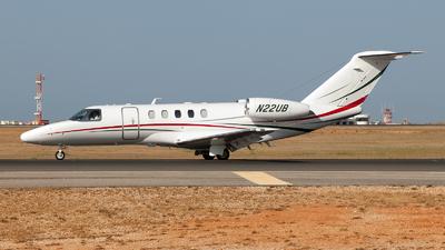 A picture of N22UB - Cessna 525C CitationJet CJ4 - [525C0182] - © Fabrizio Gandolfo