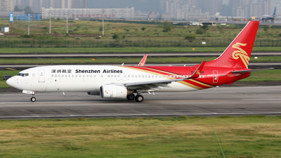 A picture of B5606 - Boeing 73787L - Shenzhen Airlines - © YIJING HOU