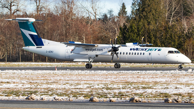 A picture of CGENU - De Havilland Canada Dash 8400 - WestJet - © CJMAviation