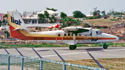 V2-LCK - De Havilland Canada DHC-6-300 Twin Otter - Leeward Islands Air Transport (LIAT)