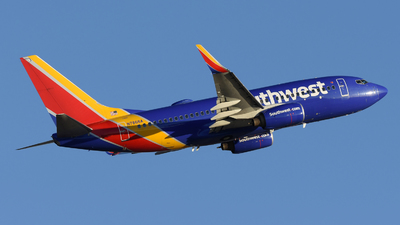 A picture of N7866A - Boeing 7377Q8 - Southwest Airlines - © DJ Reed - OPShots Photo Team