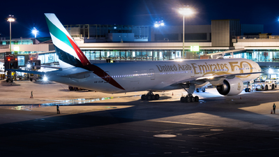 A picture of A6EQM - Boeing 77731H(ER) - Emirates - © Theodore Chan
