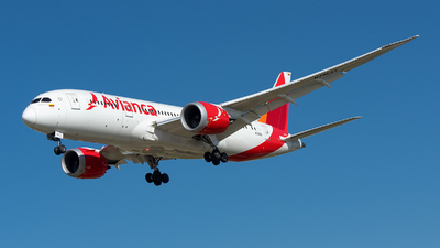 N796AV - Boeing 787-8 Dreamliner - Avianca