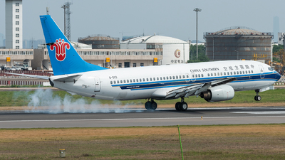 A picture of B5113 - Boeing 73781B - China Southern Airlines - © xuhaoqing995