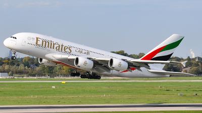A picture of A6EDQ - Airbus A380861 - Emirates - © JuliaEK
