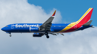 A picture of N8713M - Boeing 737 MAX 8 - Southwest Airlines - © Nick Michaud