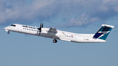 A picture of CFKWE - De Havilland Canada Dash 8400 - WestJet - © OCFLT_OMGcat