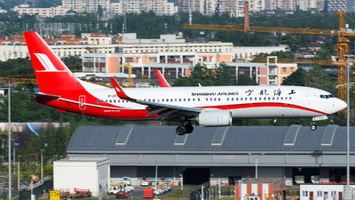 A picture of B207G - Boeing 73789P - Shanghai Airlines - © Marcus Yu