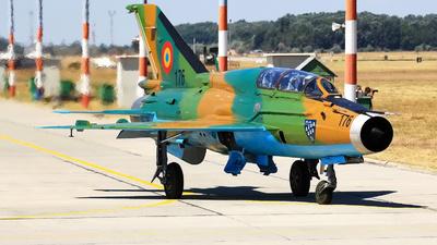 176 - Mikoyan-Gurevich MiG-21UM Lancer B - Romania - Air Force