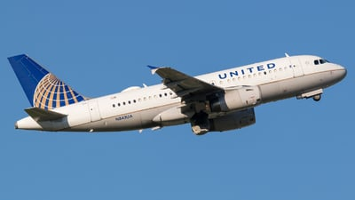 A picture of N843UA - Airbus A319131 - United Airlines - © Positive Rate Photography