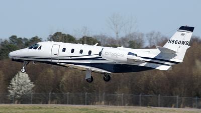 N560WB - Cessna 560XL Citation Excel - Private