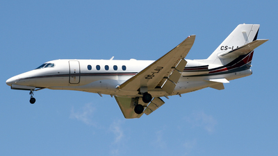 A picture of CSLAU - Cessna 680A Citation Latitude - NetJets - © Javier Rodriguez - Amics de Son Sant Joan