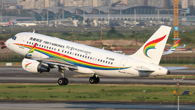A picture of B300W - Airbus A319115 - Tibet Airlines - © YIJING HOU