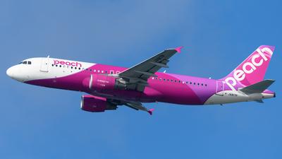 A picture of JA817P - Airbus A320214 - Peach - © Yoshio Yamagishi