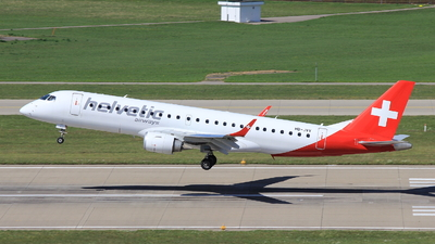 A picture of HBJVV - Embraer E190LR - Helvetic Airways - © Christoph Plank