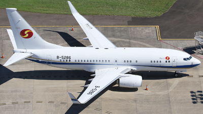 A picture of B5286 - Boeing 7377GJ(BBJ) - [41658] - © Tim Bowrey
