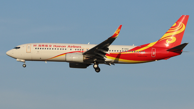 A picture of B1492 - Boeing 73786N - Hainan Airlines - © Tongjun XIANG