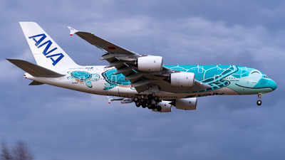 A picture of JA382A - Airbus A380841 - All Nippon Airways - © JG_Kojiro