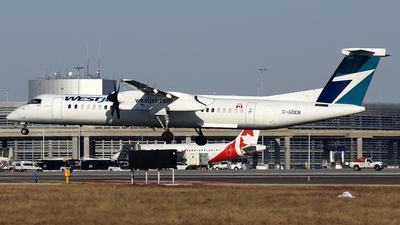 A picture of CGDEN - De Havilland Canada Dash 8400 - WestJet - © Tianyi Liu