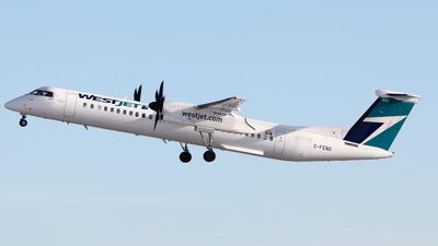 A picture of CFENO - De Havilland Canada Dash 8400 - WestJet - © Mike MacKinnon