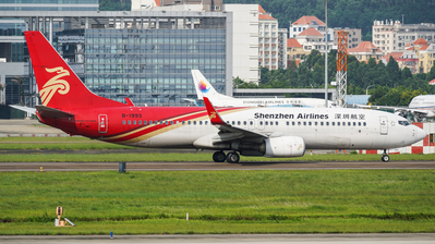 A picture of B1993 - Boeing 73787L - Shenzhen Airlines - © (HKG) Karl Ng