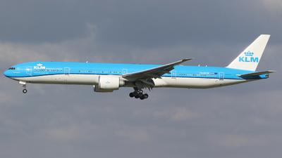 A picture of PHBVW - Boeing 777300(ER) - KLM - © Steven  white