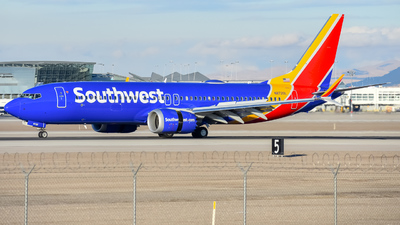 A picture of N8720L - Boeing 737 MAX 8 - Southwest Airlines - © Lynden Westrich