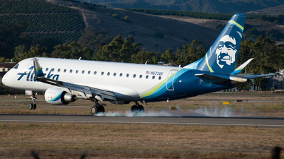 A picture of N622QX - Embraer E175LR - Alaska Airlines - © Beck Ramsey