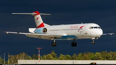 OE-LVA - Fokker 100 - Austrian Airlines