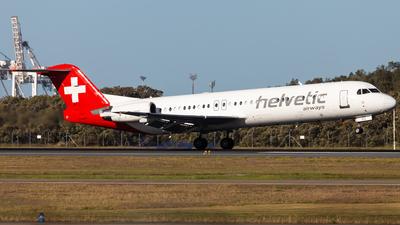 A picture of HBJVG - Fokker 100 - [11478] - © Brandon Giacomin