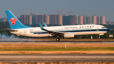 A picture of B5741 - Boeing 73781B - China Southern Airlines - © SnowMiku39